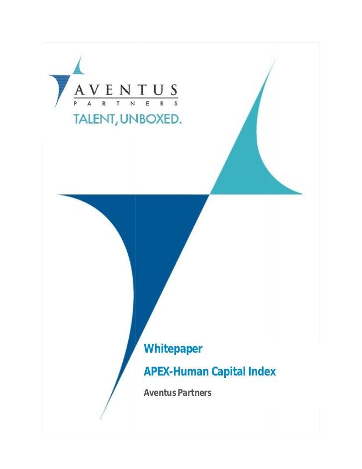 WhitepaperAPEX-Human Capital Index     HumanAventus Partners