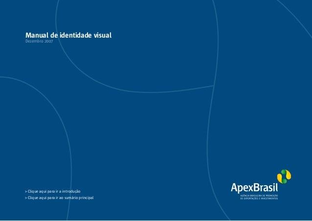 Manual de Identidade Visual da ApexBrasil