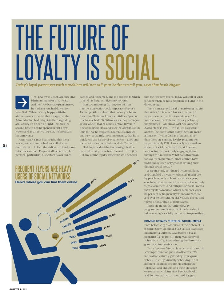 THE FUTURE OF           LOYALTY IS SOCIAL           Today's loyal passenger with a problem will not call your hotline to t...
