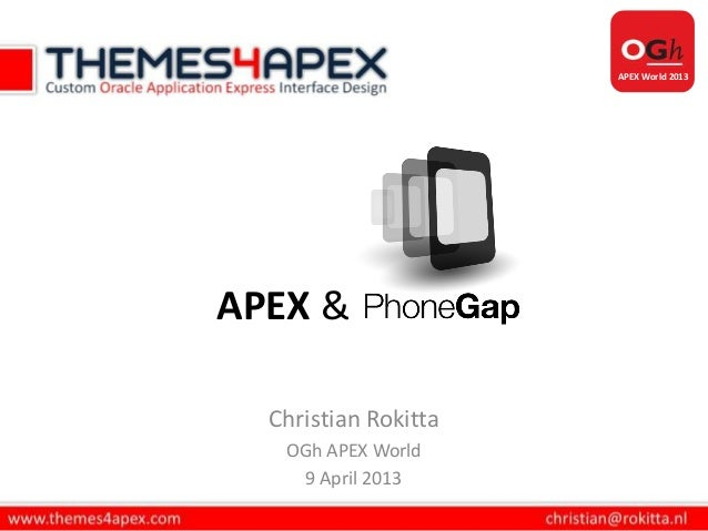 Oracle APEX & PhoneGap