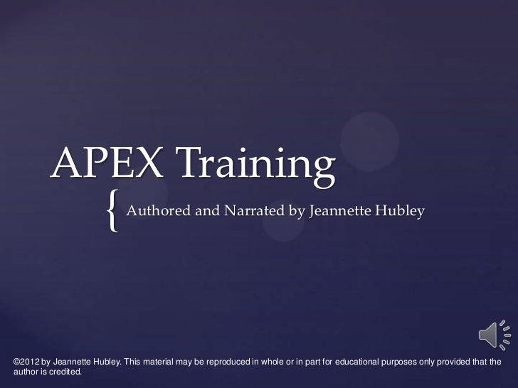 Apex training1