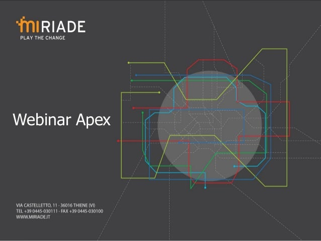 Oracle Apex - Presentazione