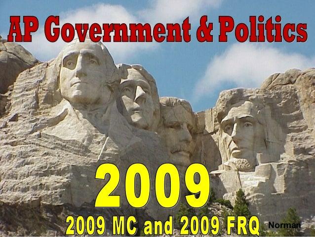 AP Government 2009 MC Exam