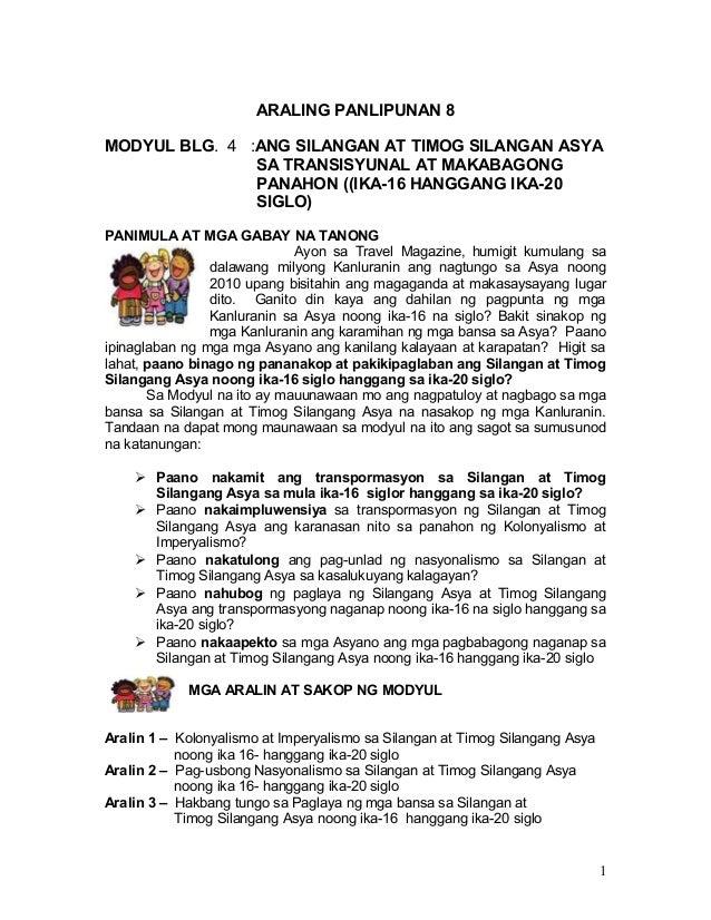 Ap gr. 8 q4 ( module 4) - grade 8 learning modules