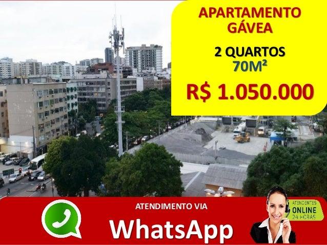 APARTAMENTO GÁVEA 2 QUARTOS 70M² R$ 1.050.000 ATENDIMENTO VIA WhatsApp