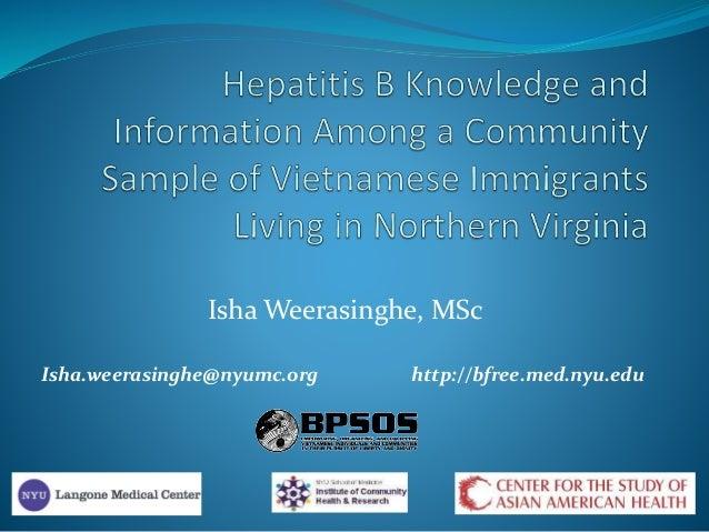 Isha Weerasinghe, MSc Isha.weerasinghe@nyumc.org http://bfree.med.nyu.edu