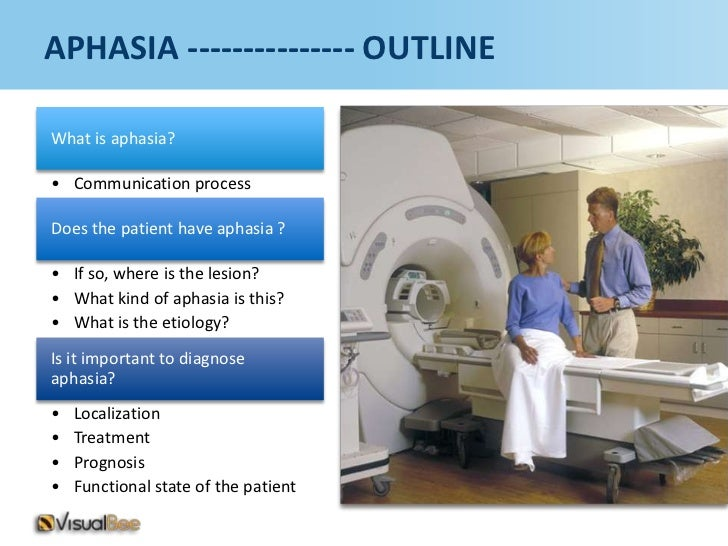 APHASIA --------------- OUTLINEWhat is aphasia?• Communication processDoes the patient have aphasia ?• If so, where is the...