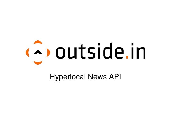 Hyperlocal News API