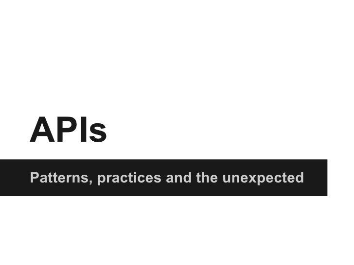 Api - Hacks and Hackers