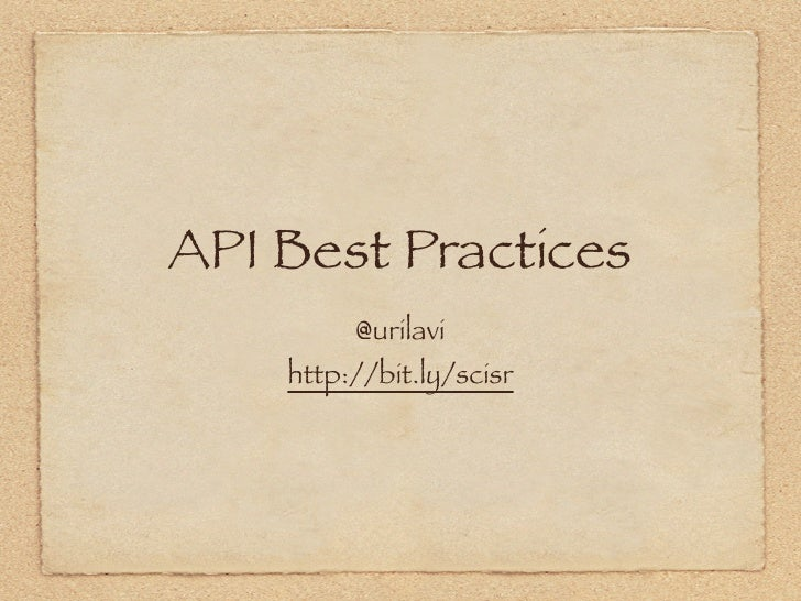 API Best Practices