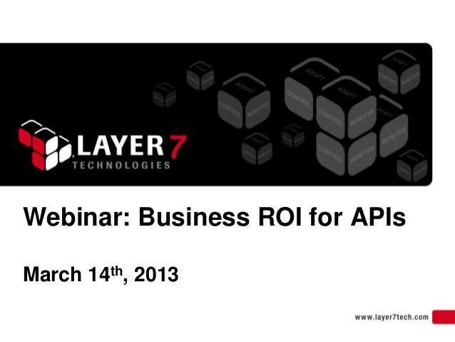 Webinar: Business ROI for APIsMarch 14th, 2013
