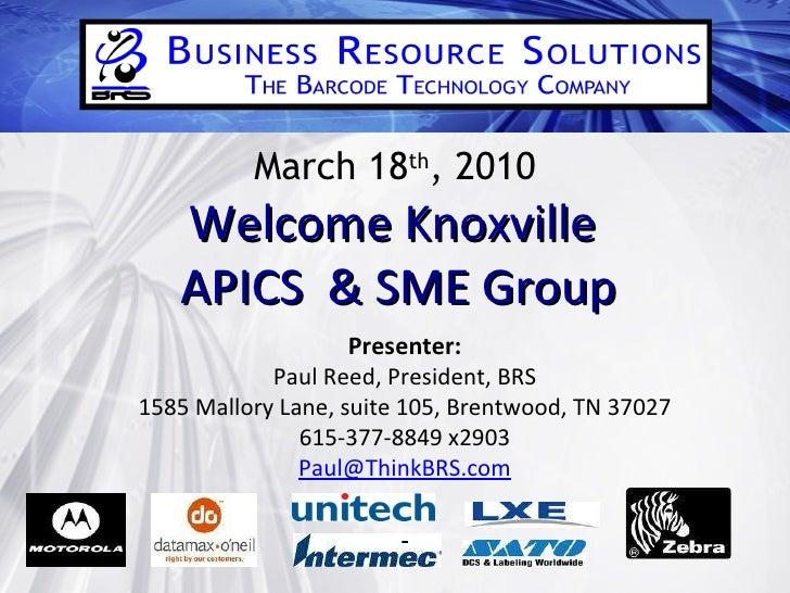 APICS And SME 2010