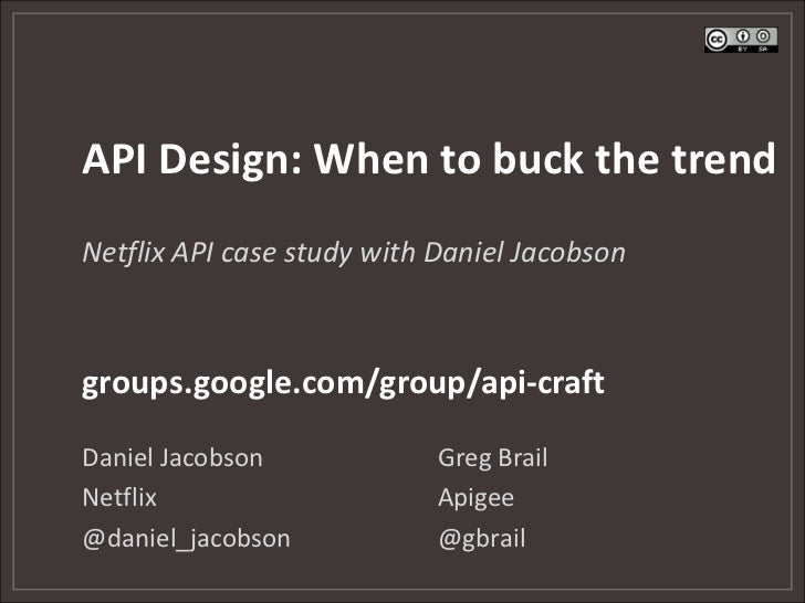 API Design - When to buck the trend (Webcast)
