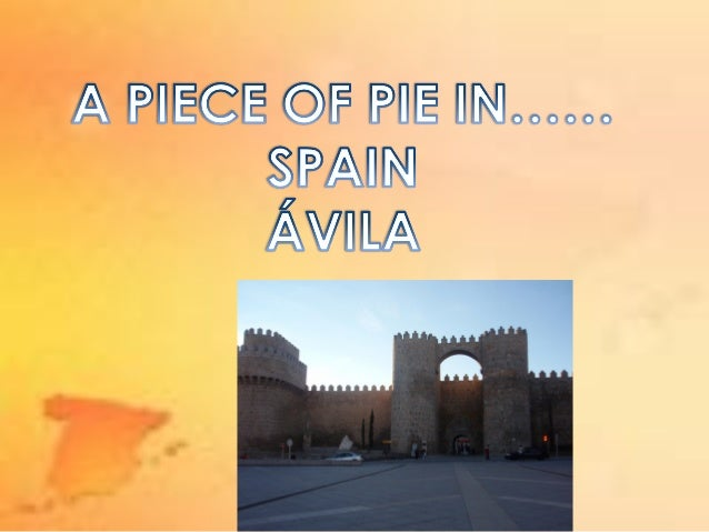 A piece of pie in Avila by  Alicia and Clara