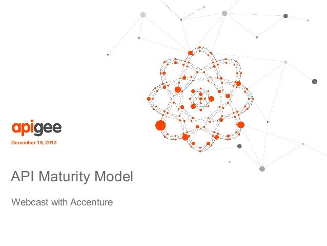 December 19, 2013  API Maturity Model Webcast with Accenture