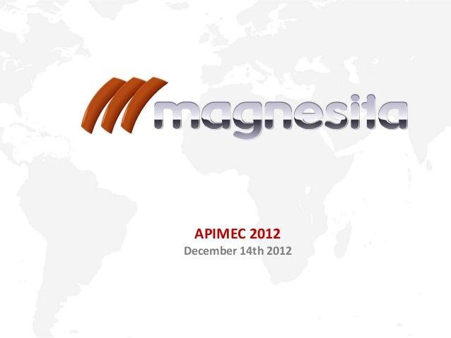 APIMEC 2012 December 14th 2012