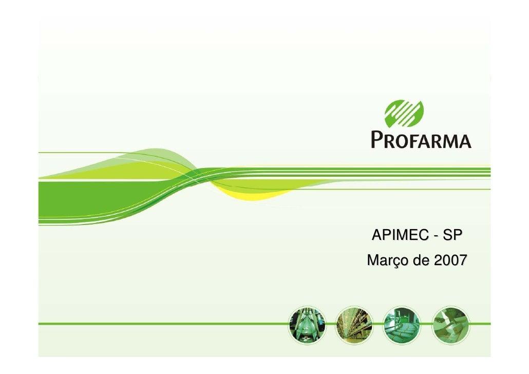 APIMEC - SP Março de 2007