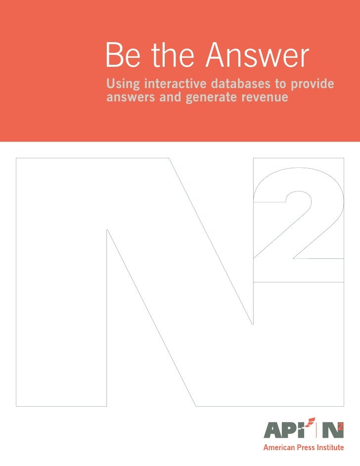 Be the Answer: Using interactive databases to answer questions and generate revenue