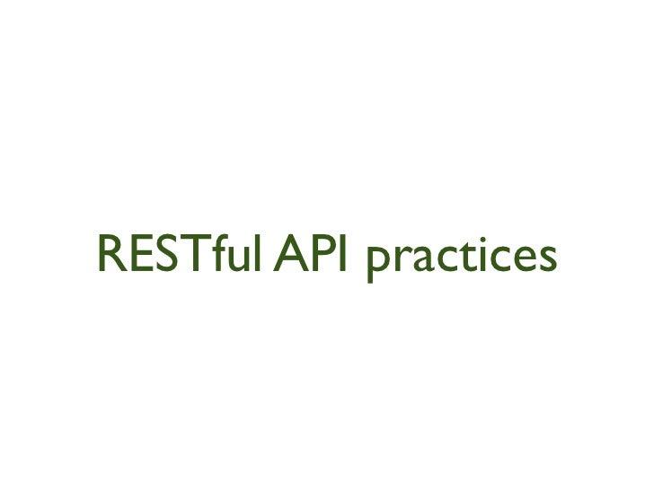 RESTful Api practices Rails 3