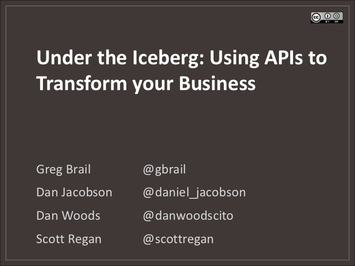 """O'Reilly author webinar """"APIs: A Strategy guide"""":  Transforming Your Business with APIs"""