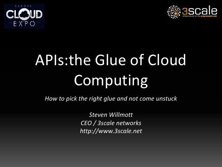 APIs: the Glue of Cloud Computing
