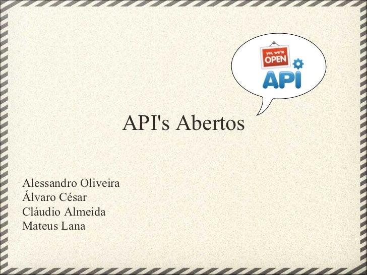 Apis Abertos