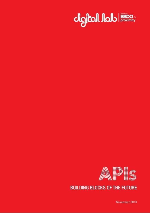 APIs: The Building Blocks of the Future