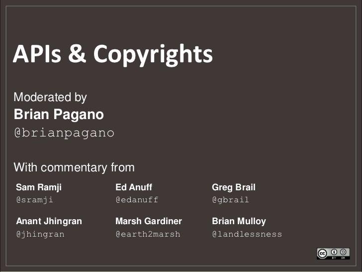 APIs & Copyrights
