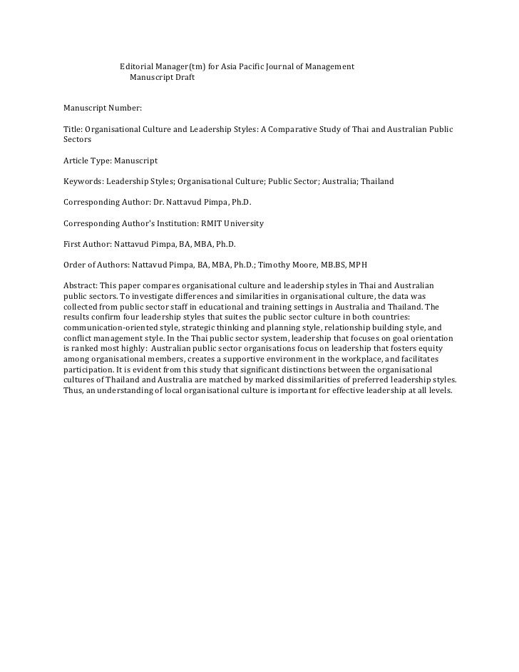 Editorial Manager(tm) for Asia Pacific Journal of Management                  Manuscript Draft   Manuscript Number:  Title...