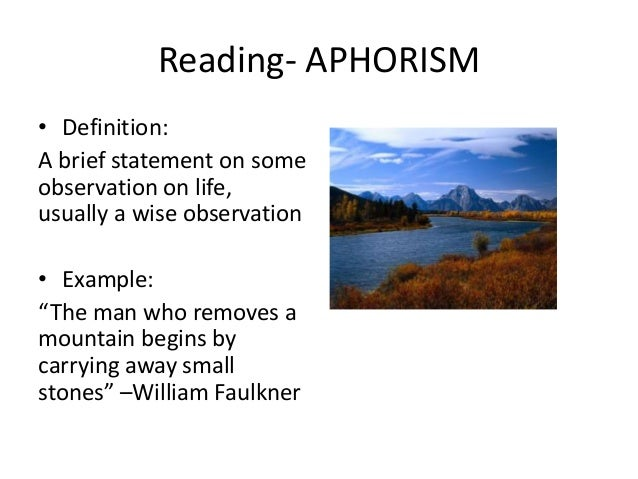 aphoristic essay