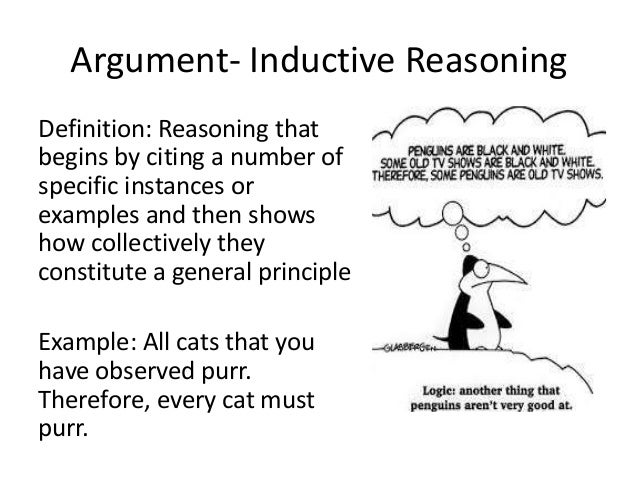 an explanation of arguments and the principle of induction Definition of induction in english:  there are two species of arguments: inductions and deductions (posterior analytics i1, 71a5ff)'  'the principle of .