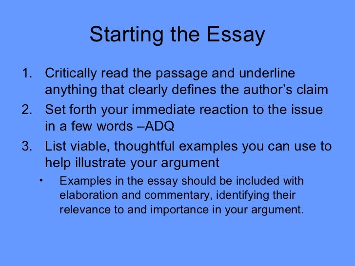 Arguement Essays