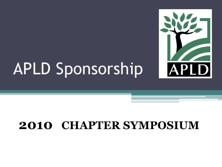 APLD Sponsorship Programs