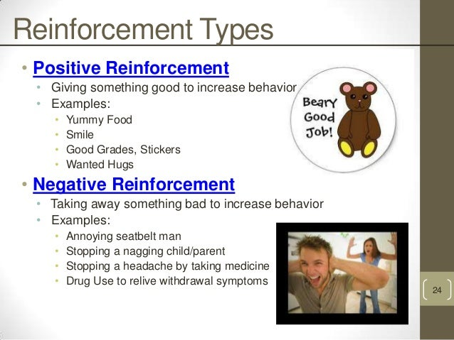 the use of positive and negative reinforcement in the case of kayla