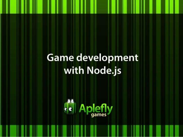 Game development with Node.js