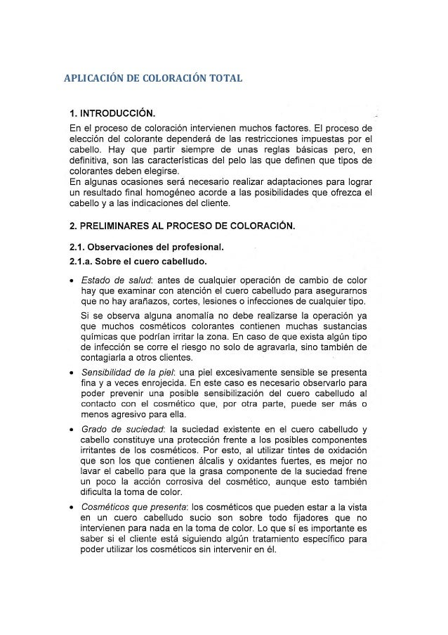 APLICACIÓN DE COLORACIÓN TOTAL
