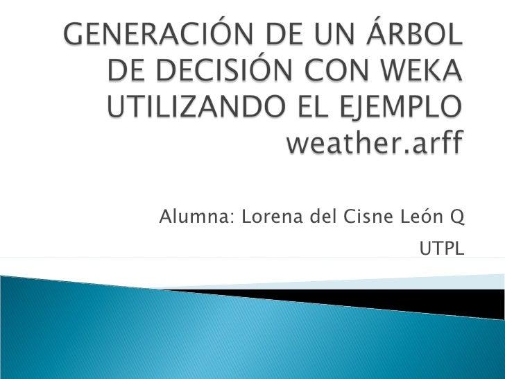 Aplicacion Weka Lorena Leon