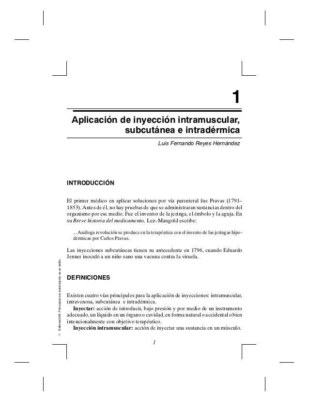 1                                                                 Aplicación de inyección intramuscular,                  ...
