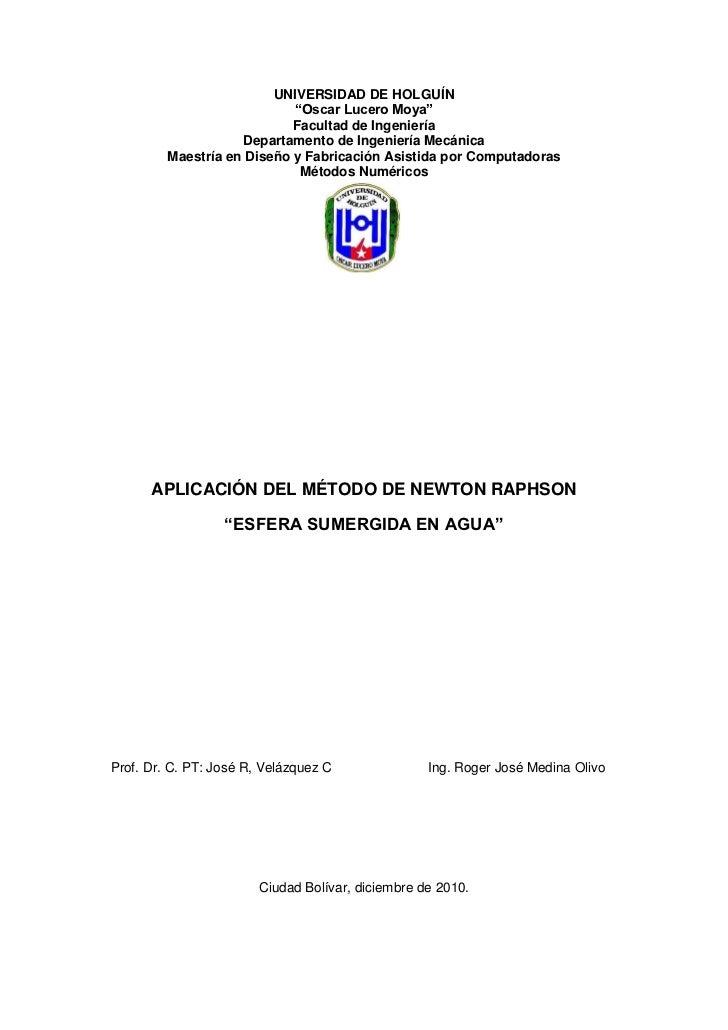 """UNIVERSIDAD DE HOLGUÍN                            """"Oscar Lucero Moya""""                            Facultad de Ingeniería   ..."""