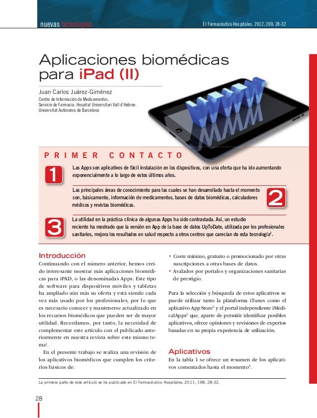 Aplicaciones biomedicas ii(1)