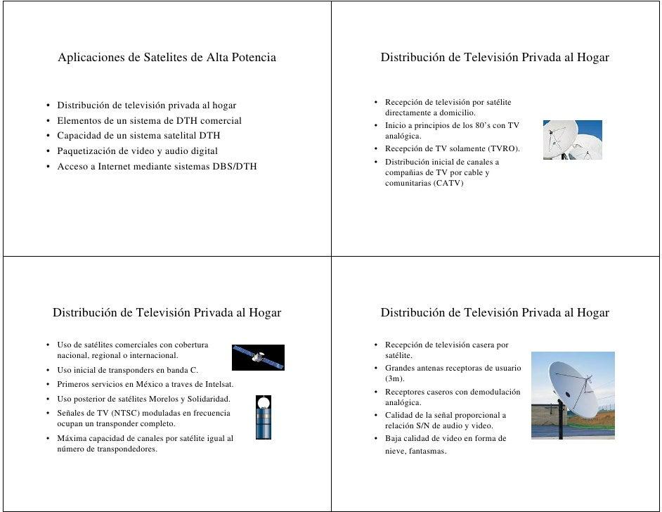 Aplicaciones de Satelites de Alta Potencia          Distribución de Televisión Privada al Hogar   •   Distribución de tele...