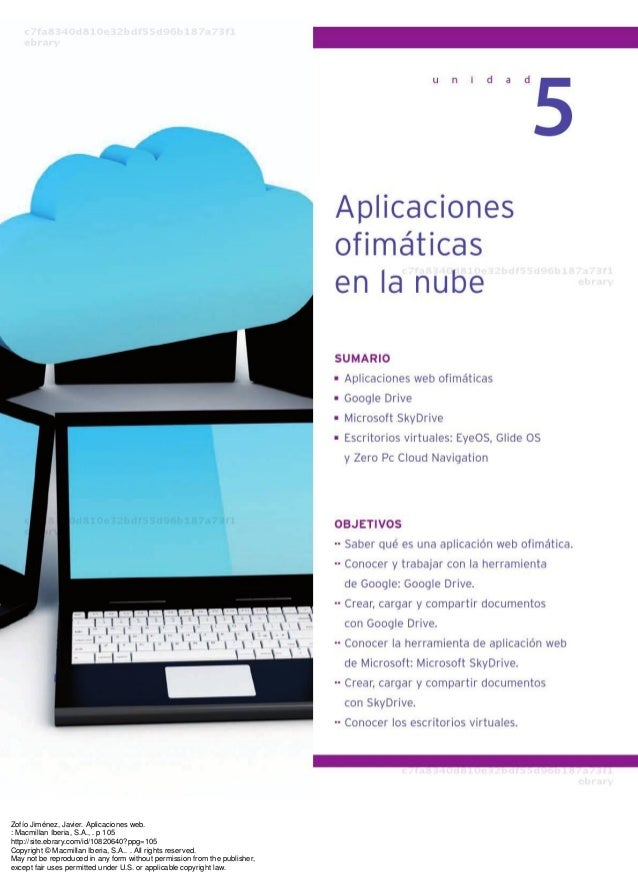 Zofío Jiménez, Javier. Aplicaciones web. : Macmillan Iberia, S.A., . p 105 http://site.ebrary.com/id/10820640?ppg=105 Copy...