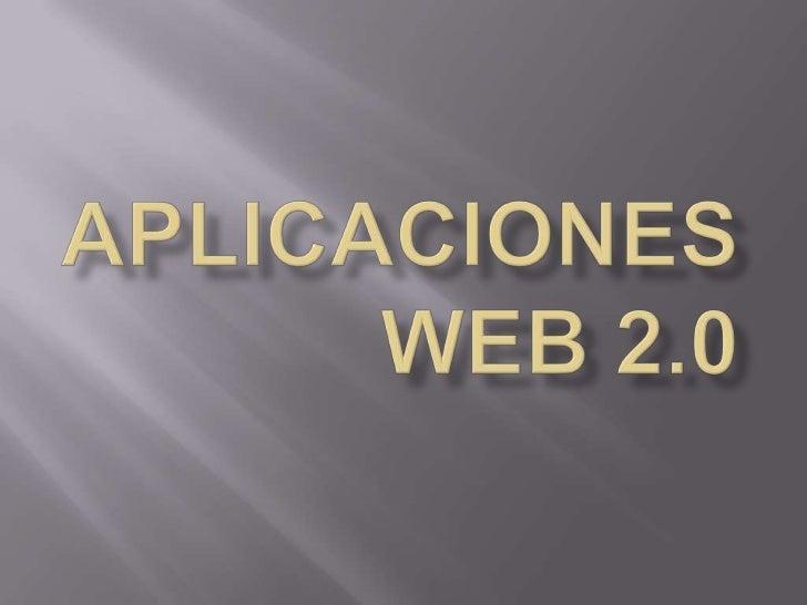 APLICACIONES WEB 2.0<br />