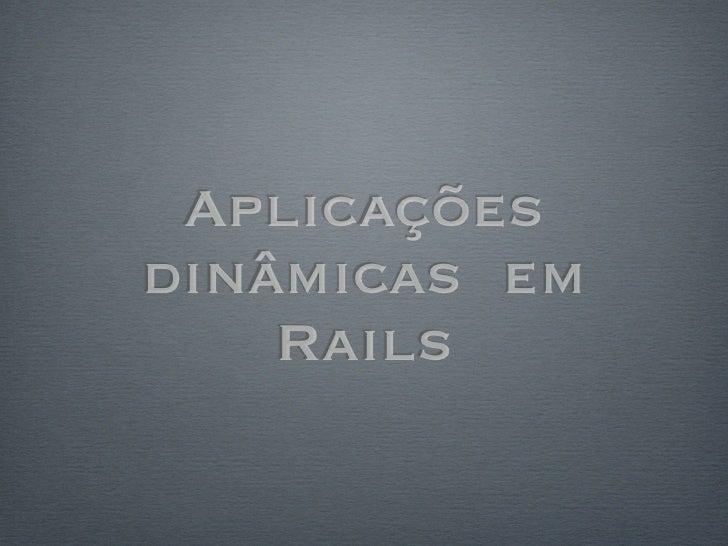 Aplicacoes dinamicas Rails com Backbone