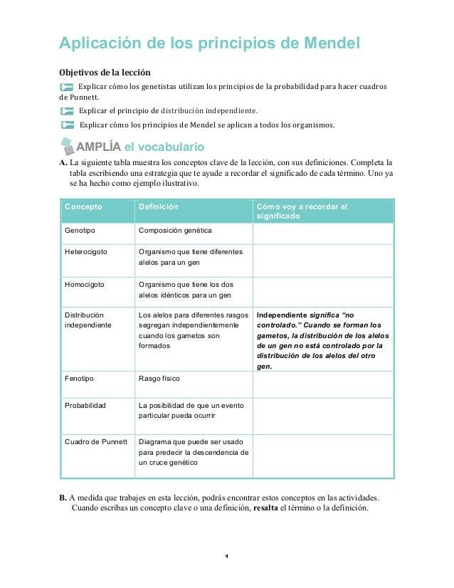 Aplicación de los principios de Mendel Objetivos  de  la  lección   Explicar  cómo  los  genetistas  utili...