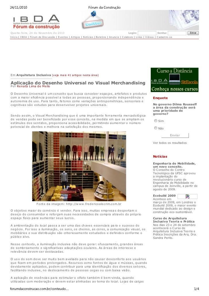24/11/2010                                                              Fórum da ConstruçãoQ ua rta-feira, 24 de Novem bro...