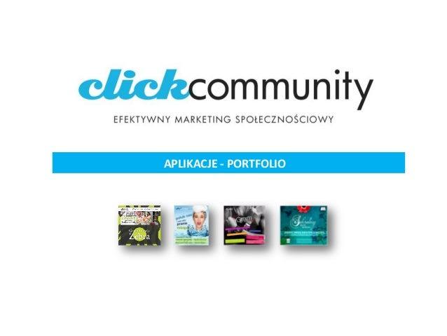 click community - efektywny marketing społecznościowy (PORTFOLIO APLIKACJI CC 2009)