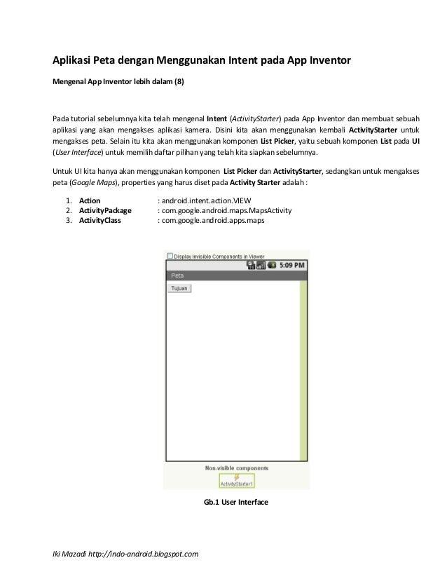 Seri 8 : Aplikasi peta dengan menggunakan intent pada app inventor