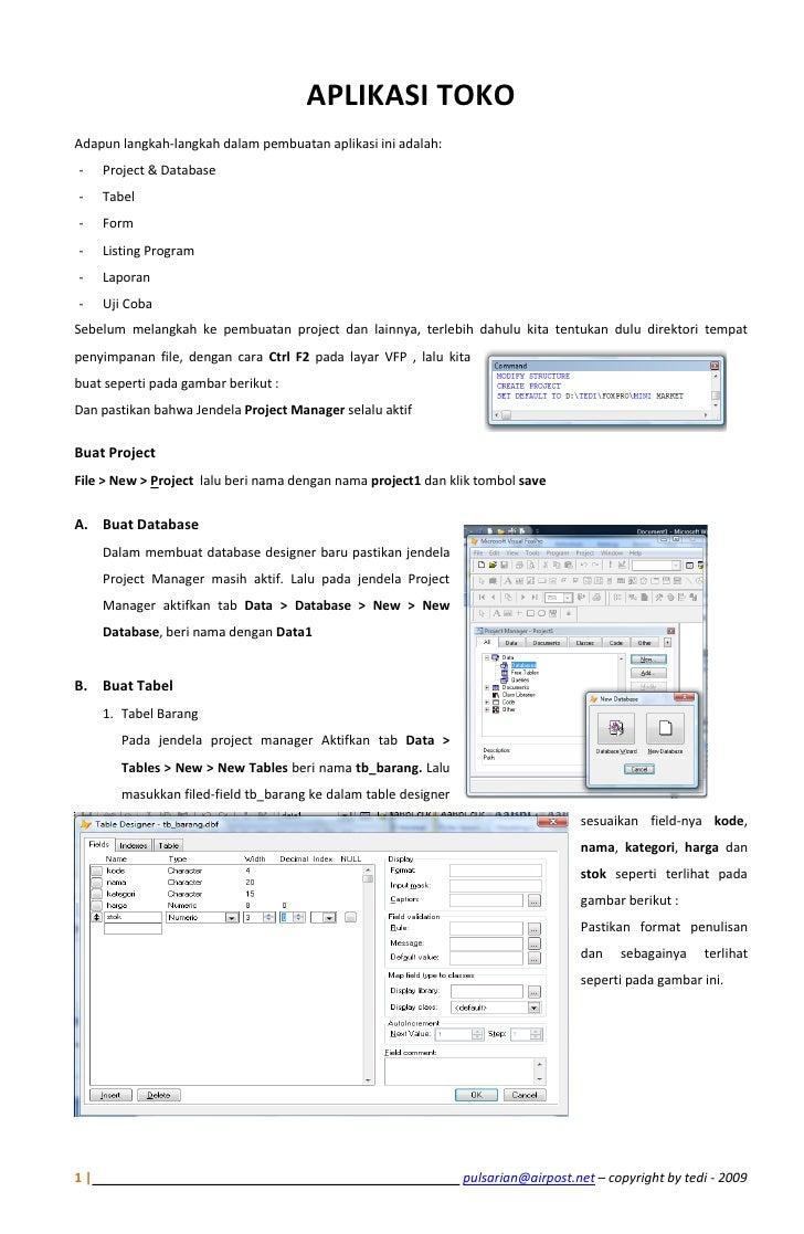 APLIKASI TOKOAdapun langkah-langkah dalam pembuatan aplikasi ini adalah:-    Project & Database-    Tabel-    Form-    Lis...