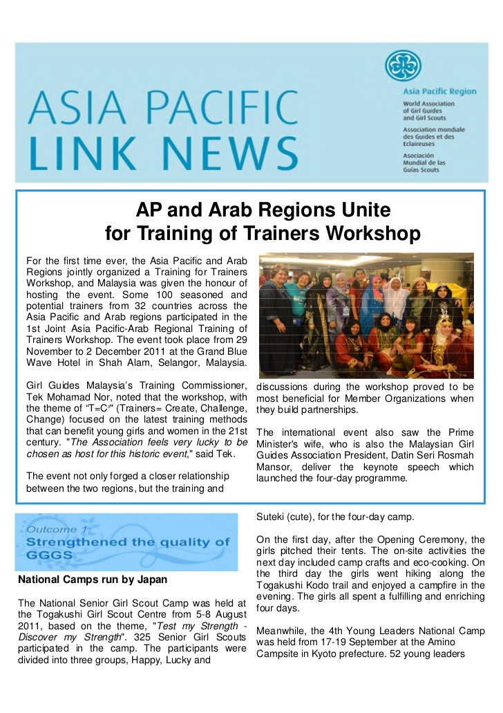 AP and Arab Regions Unite                   for Training of Trainers Workshop For the first time ever, the Asia Pacific an...